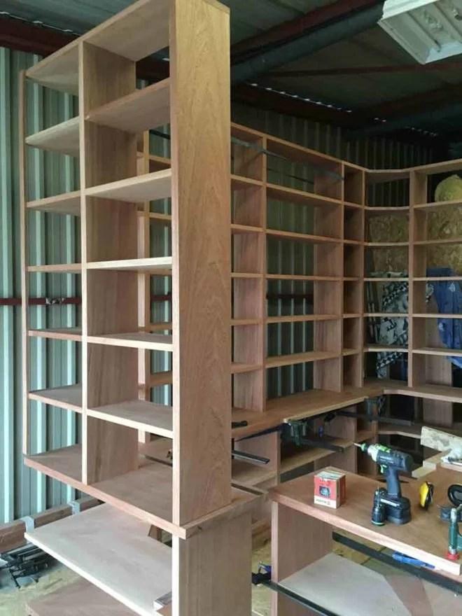 bibliotheque meuble en bois sur mesure artisan 91