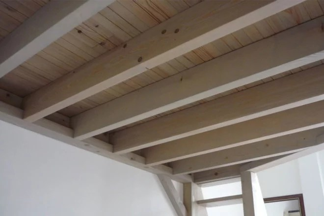 Aménagement intérieur solive mezzanine artisan 94