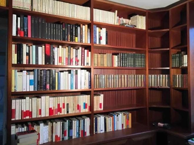 meuble en bois sur mesure grande bibliothèque artisan paris 75