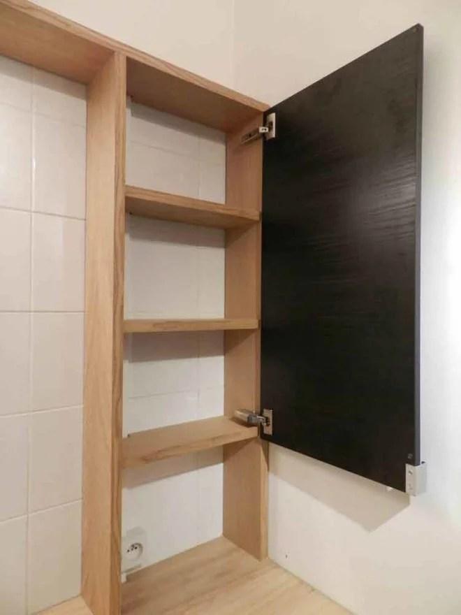 Meuble en bois sur mesure pour salle de bain artisan paris