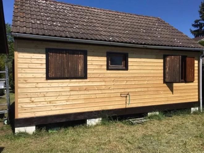 pose de bardage bois horizontal mélèze 92