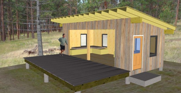 Montana Sleeping Pavilion Design