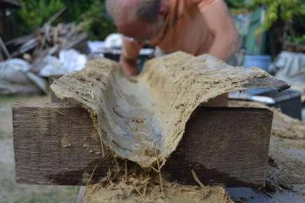 Lehmstakenwand Clay wall
