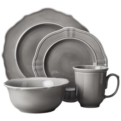 Threshold™ 16 Piece Wellsbridge Dinnerware Set in Charcoal | Target | Shop it here