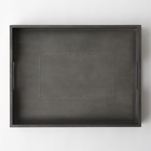 Metal-Wrapped Wood Tray | West Elm | Shop it here