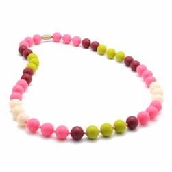 Chewbeads| The Bleecker Necklace | Punchy Pink