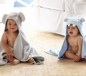 Pottery Barn Kids | Nursery Critter Wraps | click here to shop for these adorable towels