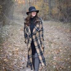 A Contemporary Plaid Coat for Winter