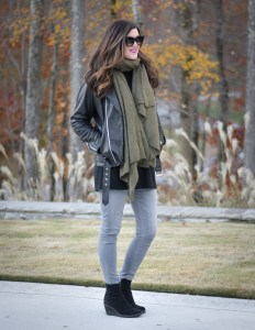 Transitioning into Winter with a Moto Jacket