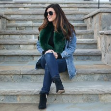 Pairing Distressed Denim & a Faux Fur Collar