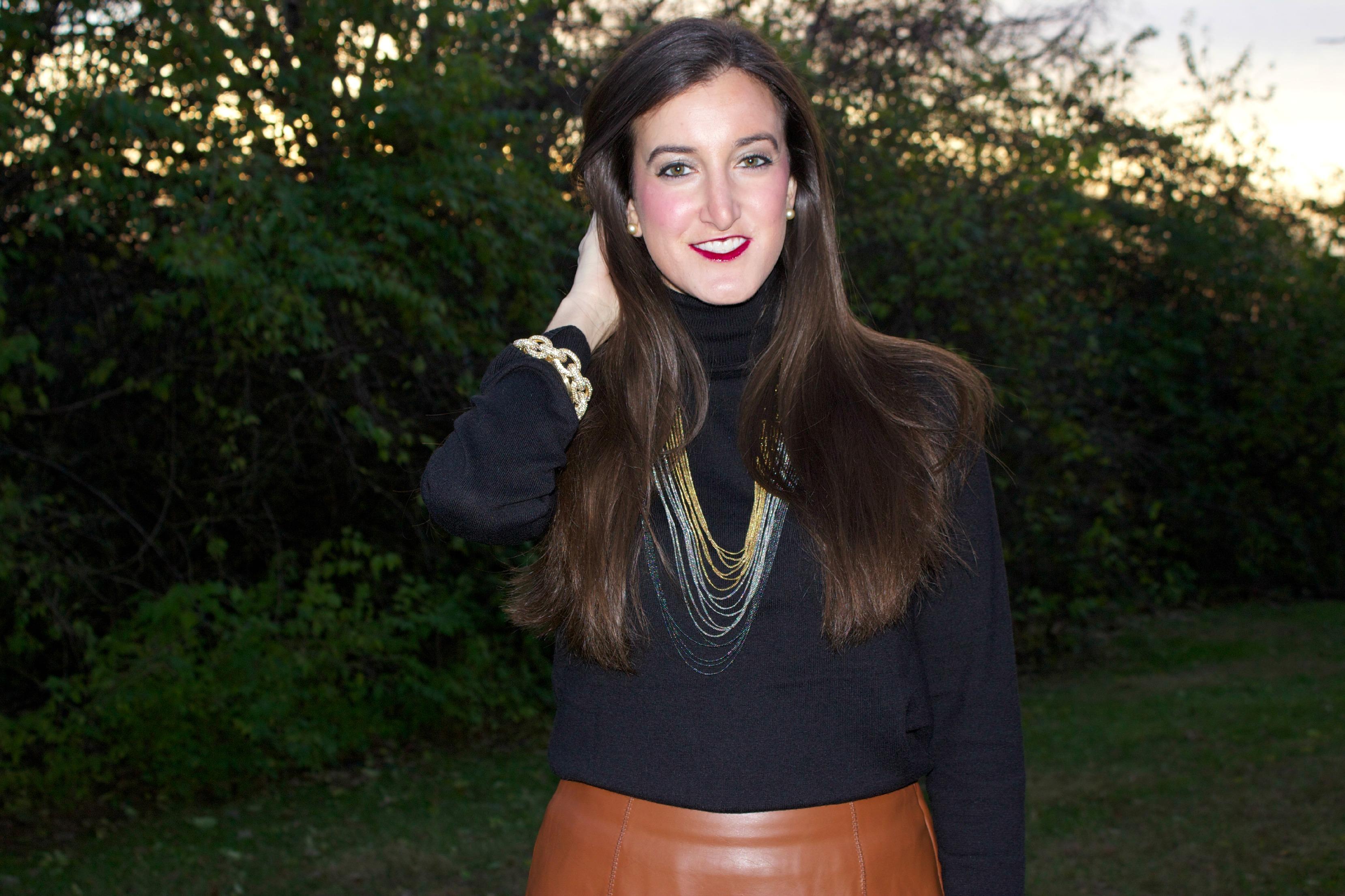 Dark Brown Leather Skirt   Jill Dress