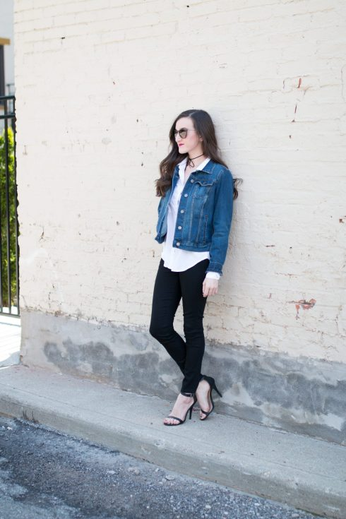 Skinny Black Jeans Denim Jacket