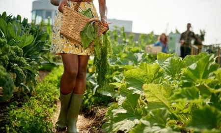 black woman farming