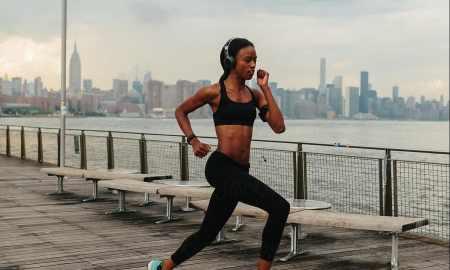 black woman running