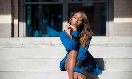 budgeting black woman on steps