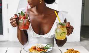 black woman eating breakfast