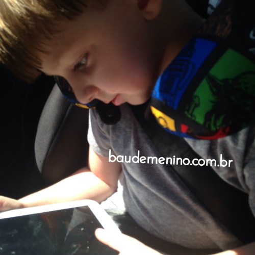 Viagem de carro com criança