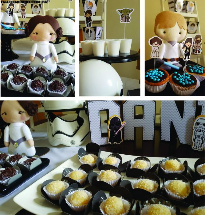 doces festa Star Wars do Daniel