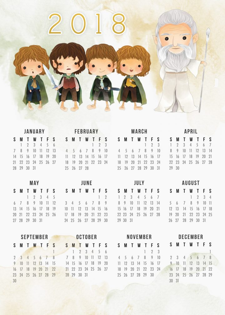 Calendario Harry Potter.Harry Potter Calendario 2018 Para Imprimir Gratis Oh 3