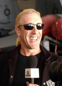 041104-N-8158F-062 Pacific Ocean (Nov. 4, 2004) Ð The rock band Twisted SisterÕs front man, Dee Snider, receives a video request from Seaman Kellie Price, of Akron, Ohio, during a visit aboard the aircraft carrier USS Nimitz (CVN 68). Nimitz is currently conducting Tailored Ships Training Availability (TSTA) I/II/III and Final Exercise Problem (FEP) off the coast of Southern California. U.S. Navy photo by PhotographerÕs Mate Airman Roland Franklin (RELEASED)