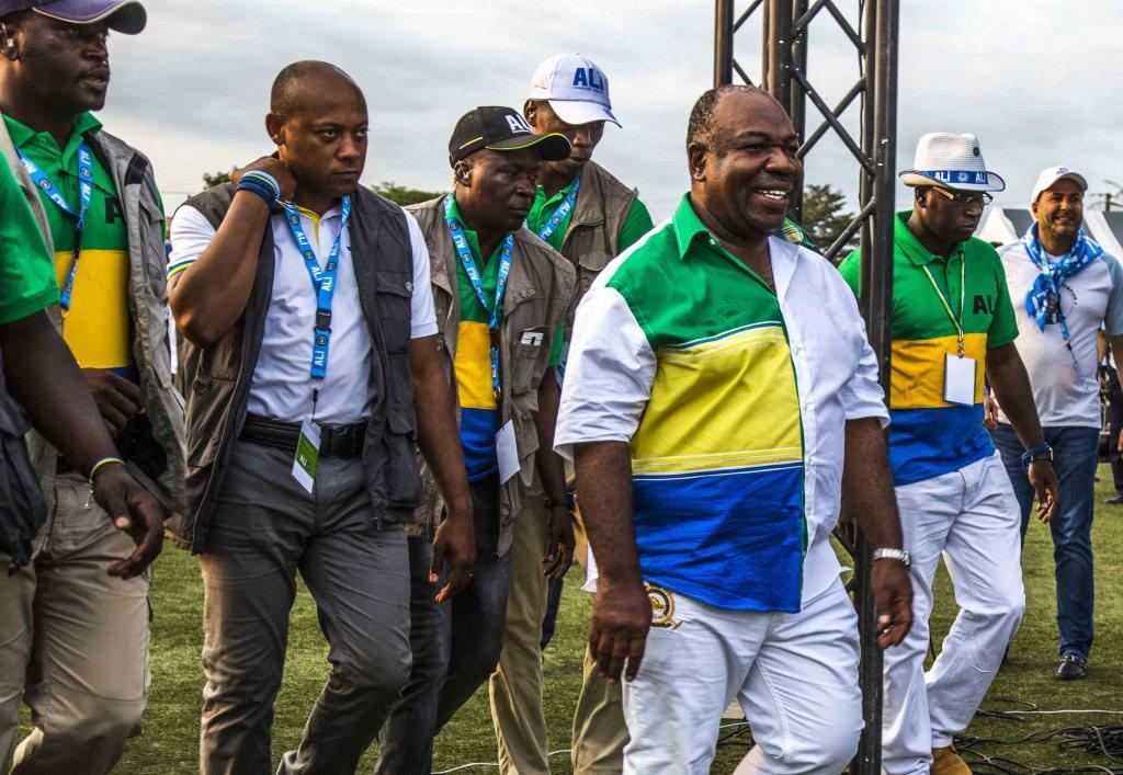 Ali Bongo en meeting de clôture au stade Nzeng-Ayong à Librevill-Baudouin MOUANDA 09_3