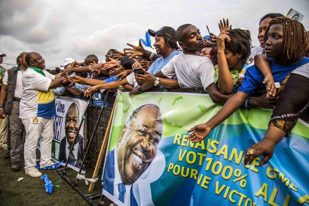 Ali Bongo en meeting de clôture au stade Nzeng-Ayong à Librevill-Baudouin MOUANDA 63_1