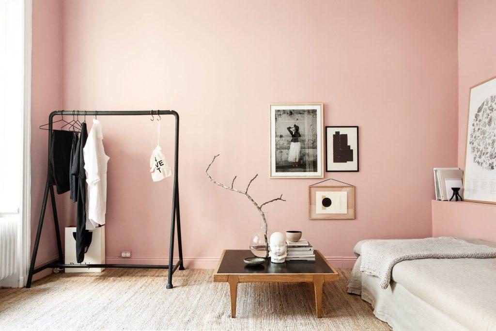 Sommerfeeling für die Wände - Das zarte Rosé der Hortensie