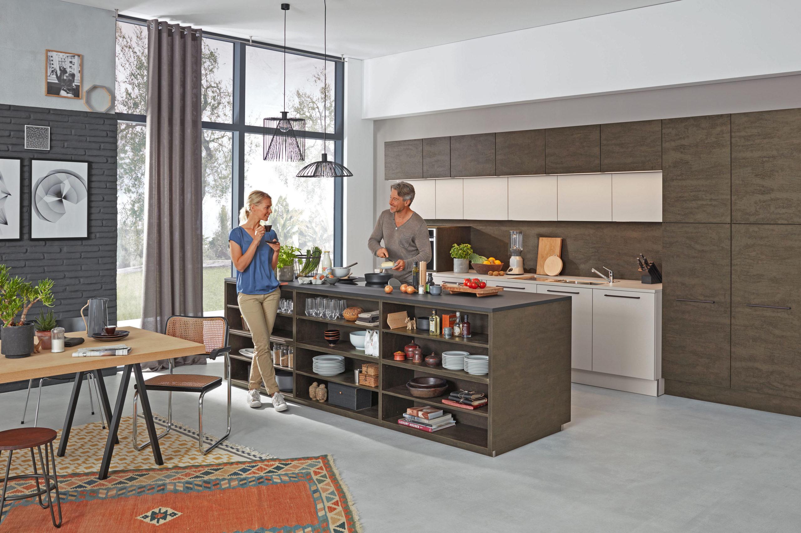 Artwood - Eiche geflämmt / Feel - Sahara - Küchenplanung