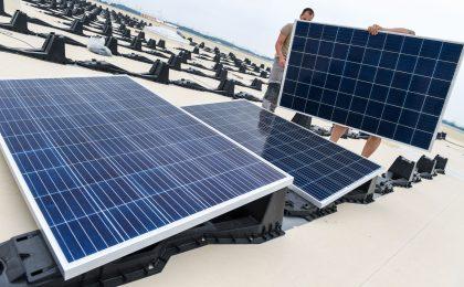 Solaranlagen für Nutzdächer