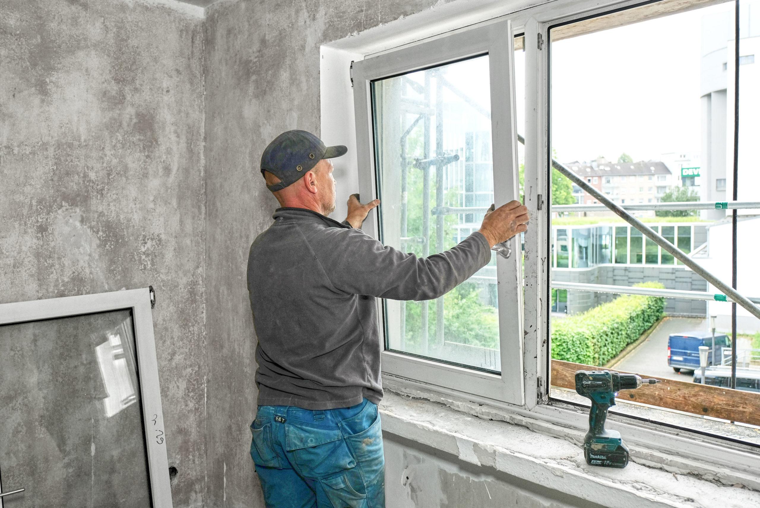 Recycling von alten Fenstern