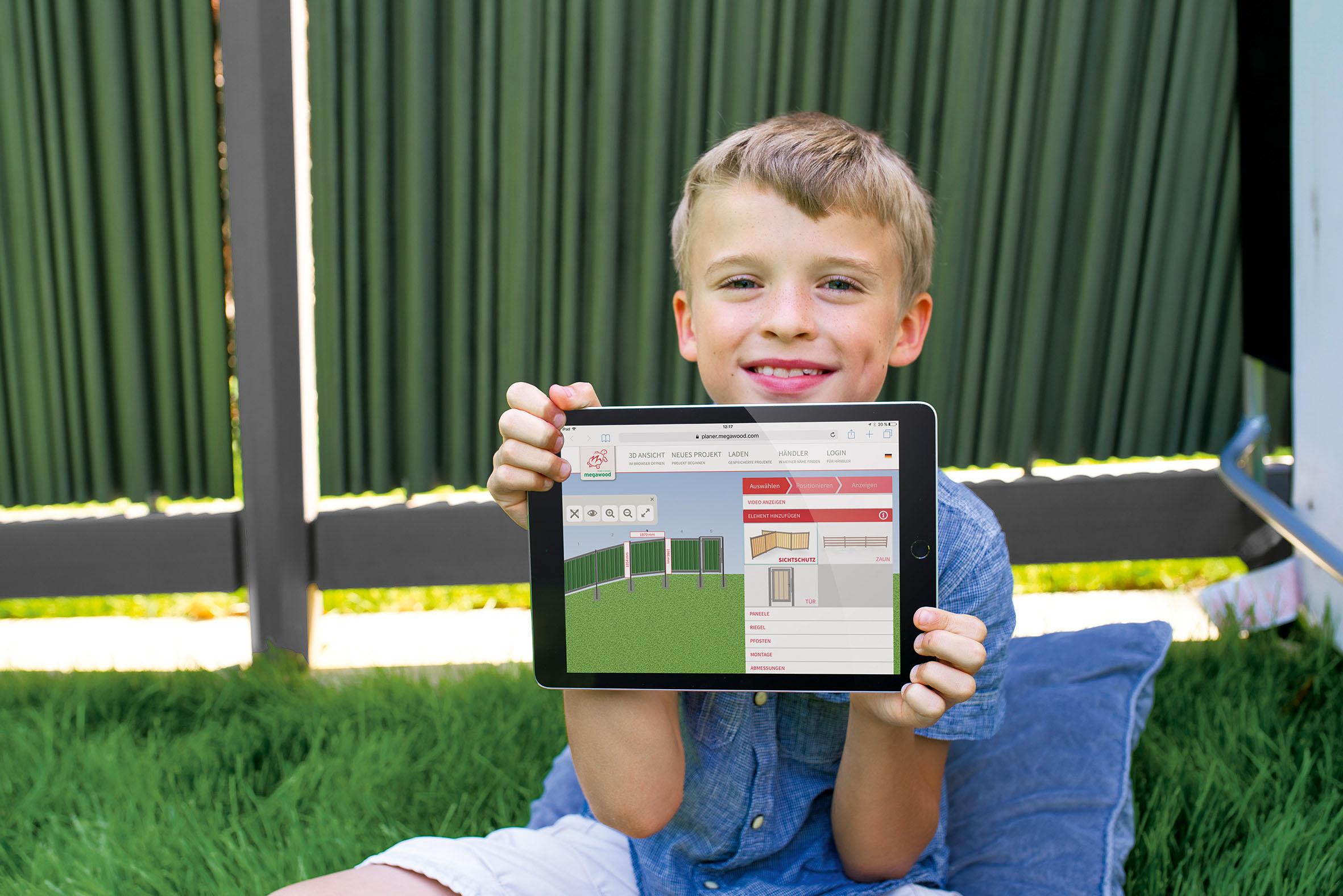 Sichtschutz im Garten online konfigurieren