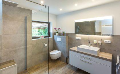 Im Trockenbau modernisiertes Bad