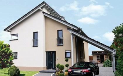 Massives Leichtbeton-Mauerwerk am Wohnhaus