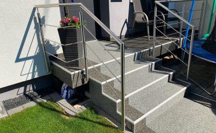 Treppe ohne Rutschgefahren