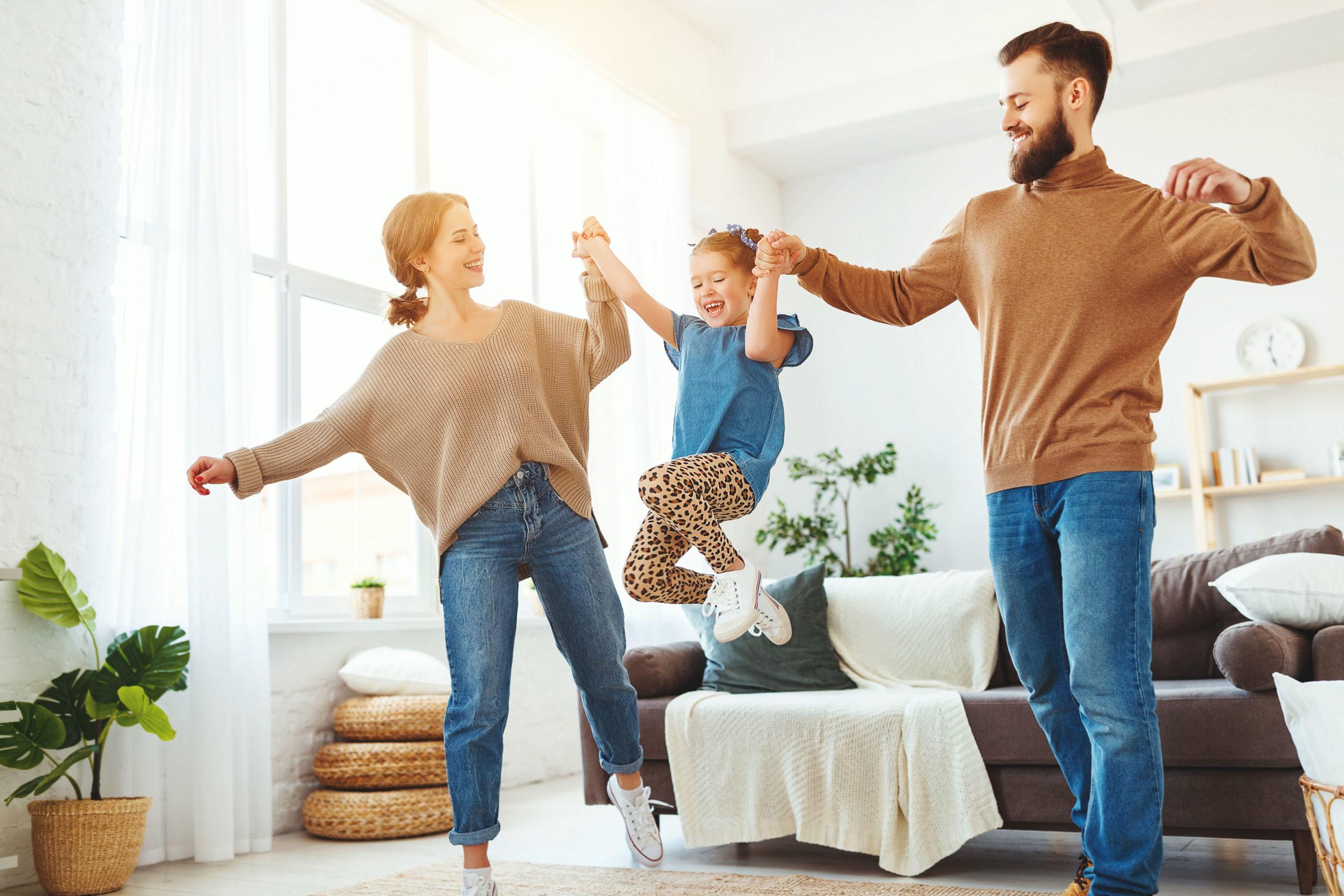 Happy Family dank Wohnraumlüftung