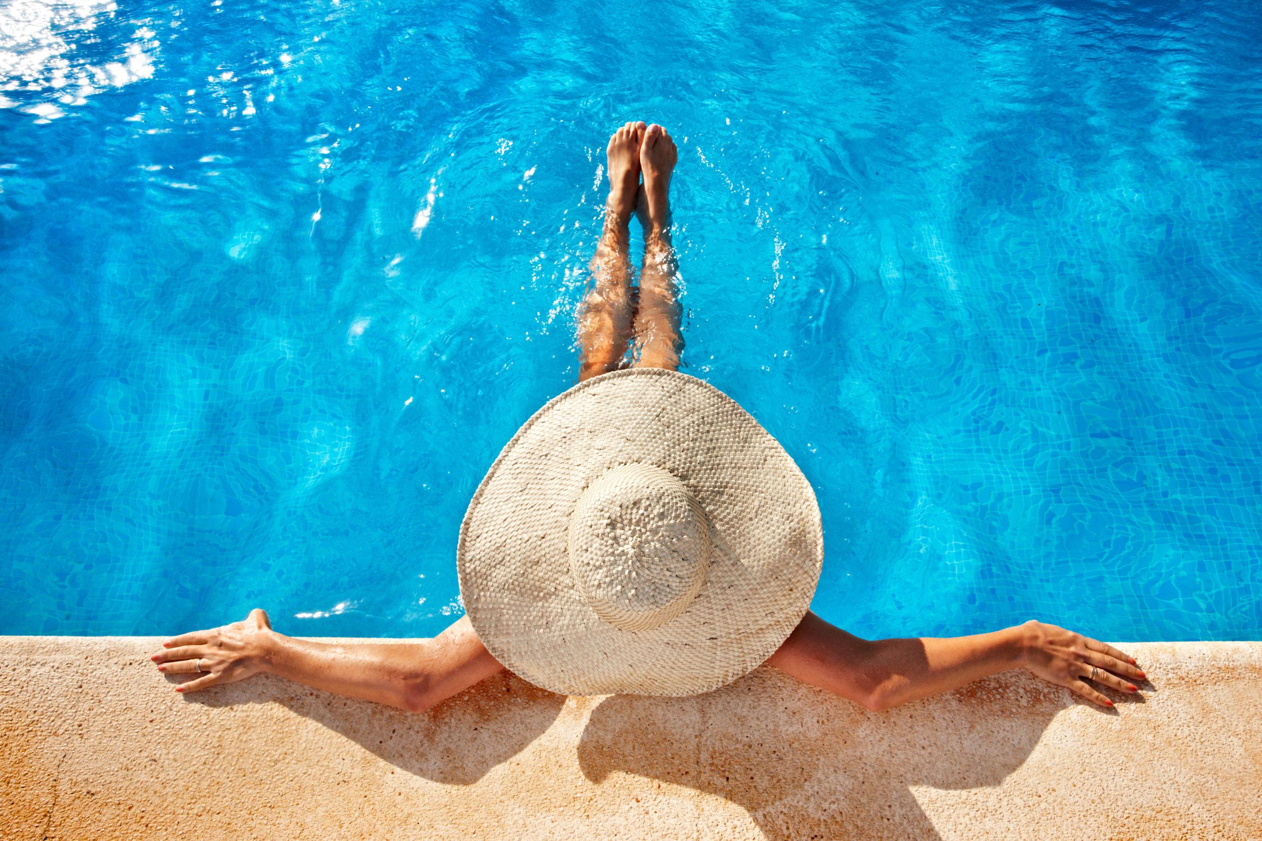 Work-Life-Balance am Pool