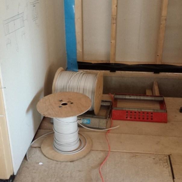Etwa 2 Kilometer Kabel wurden verarbeitet