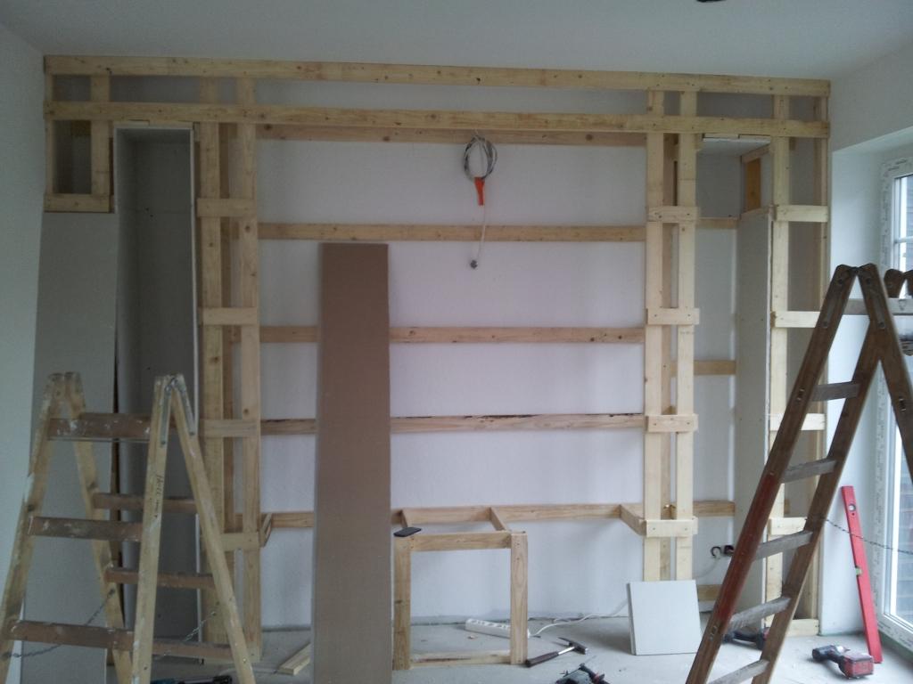 fernsehwand aus rigips mediawand selber bauen media wand selber bauen mediawand. Black Bedroom Furniture Sets. Home Design Ideas