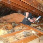 Using Cellulose for Attic Insulation: A Side-by-Side Comparison - Tight access