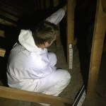 Using Cellulose for Attic Insulation: A Side-by-Side Comparison - depth markers stapling