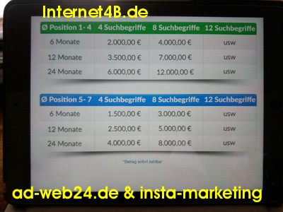 Betrug ? ad-web24.de & insta-marketing.de & Internet4B.de