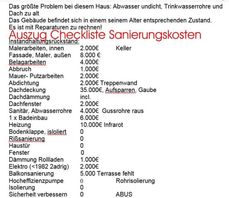 gebrauchtes Haus kaufen Auszug Checkliste Sanierungskosten Altbau 06 hauskauf-checkliste-altbau