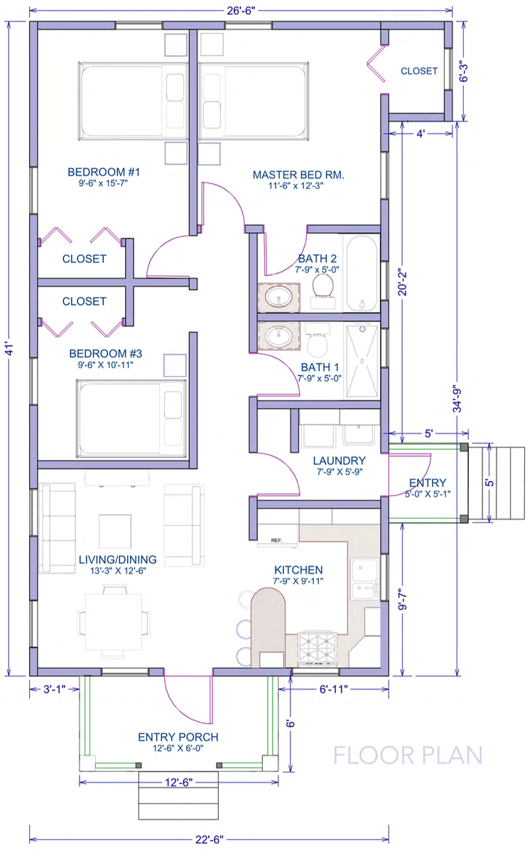 wild-orchid_3bed-plans