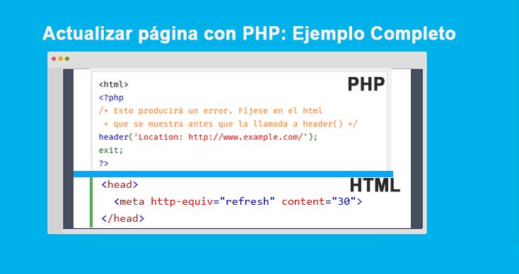 Actualizar página con PHP