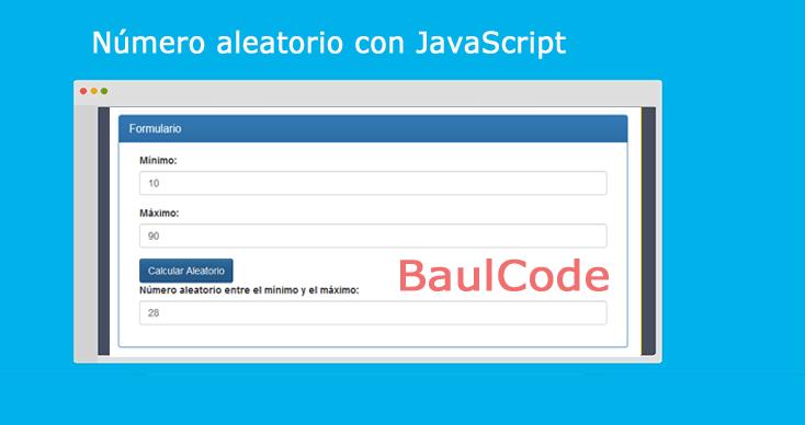 Número aleatorio con JavaScript