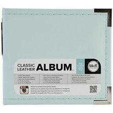 """We R Memory Keepers Instagram Albums Made Easy Mint D-Ring 4""""x4"""" Faux Leather Album"""