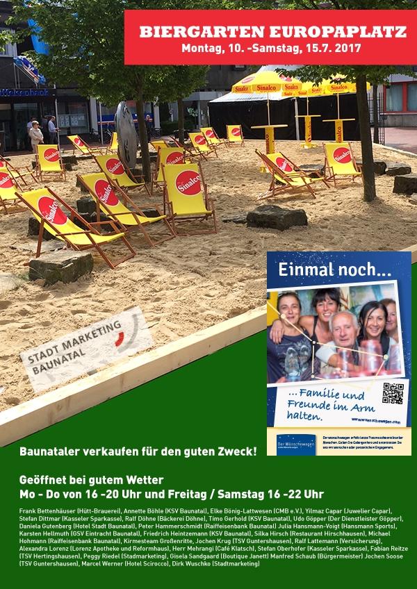 Biergarten Europaplatz Baunatal - Ab in die Mitte - Summer in hte city Baunatal