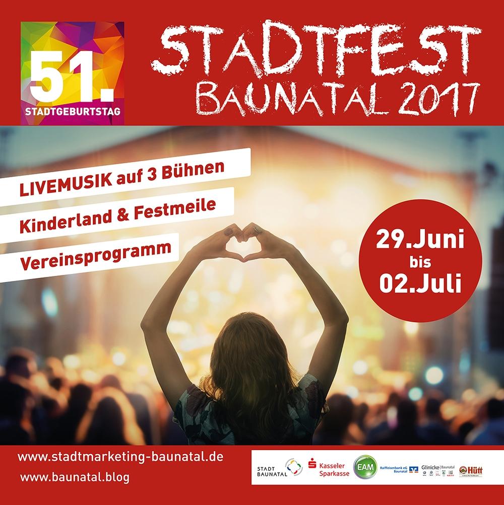 Nächstes Wochenende ist es soweit: Ab nach Baunatal zum Stadtfest 2017…