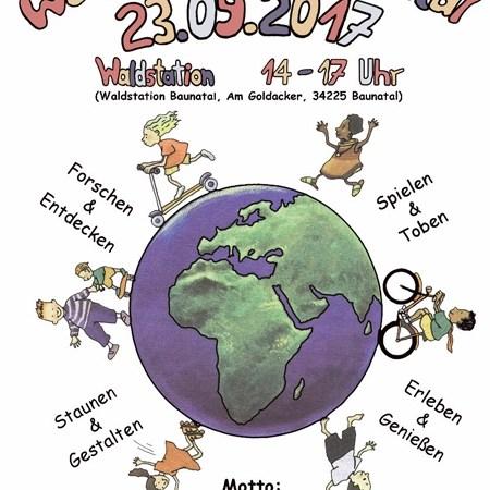 """Eltern & Kids können den Weltkindertag am 23.9.2017 mit """"Natur pur!"""" wieder in Baunatal feiern!"""