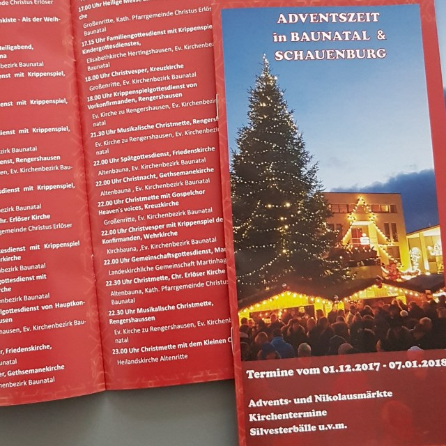 Adventsflyer Baunatal & Schauenburg Stadtmarketing Baunatal